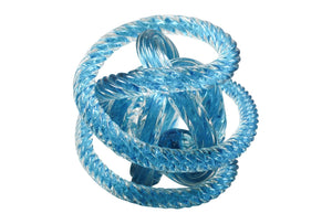 Hand blown Glass rope knots