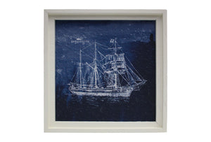 Framed Sailing Boats x2 Wall Art