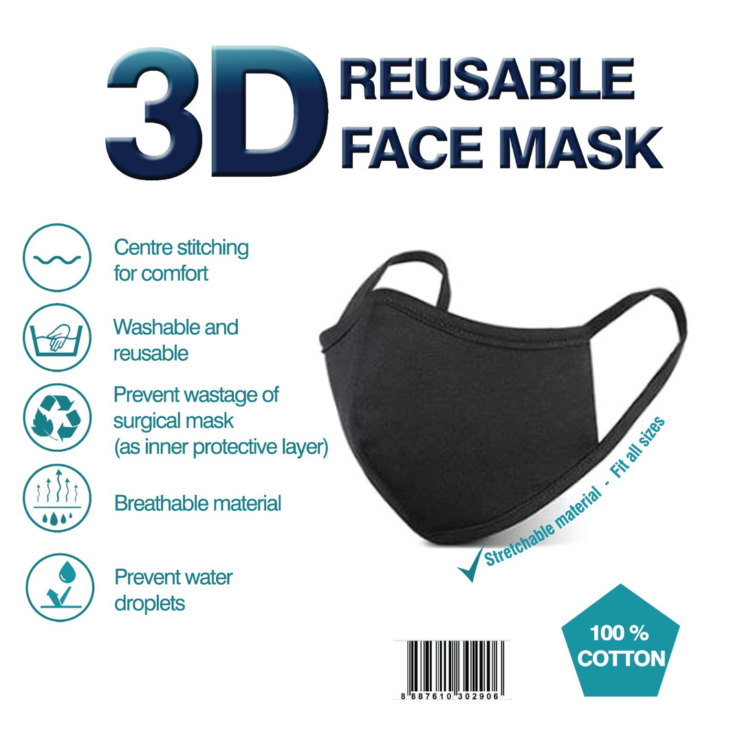 Clearance Sale | 3D Reusable Face Mask (2 PLY)
