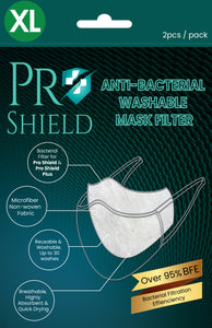 XL size | ProShield Antibacterial Reusable Nanofiber Filter (2 sheets/pack)