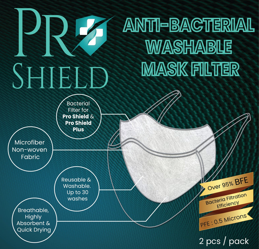 Free size |  ProShield Antibacterial Reusable Nanofiber Filter(2 sheets/pack)
