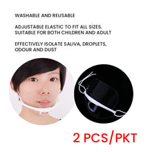 Load image into Gallery viewer, Transparent Plastic Face Mask (2pcs/pack)