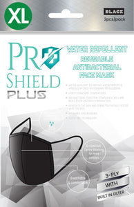 XL size Mask | ProShield Plus Water Repellent Reusable Antibacterial Face Mask (2pcs/pack)