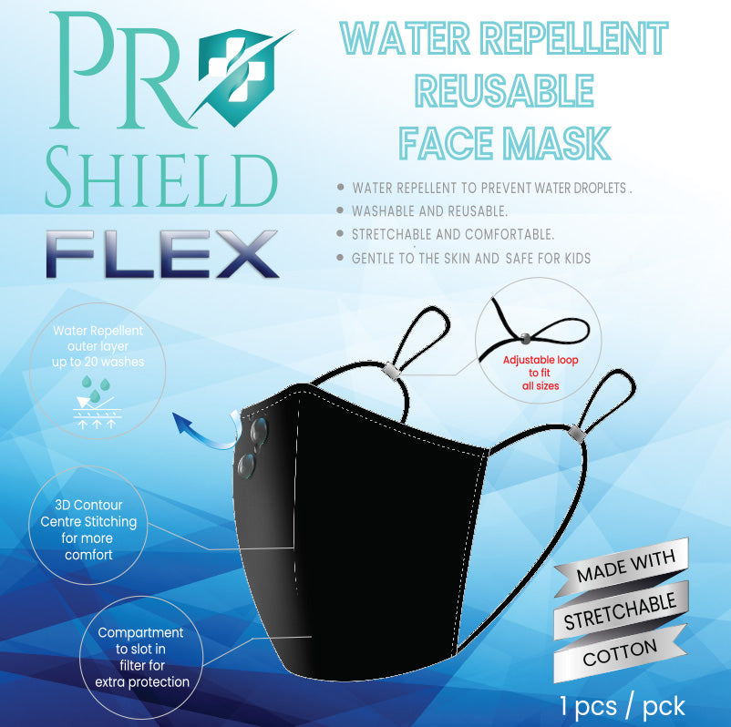 ProShield Flex Water Repellent Reusable Face Mask (1pc/pack)
