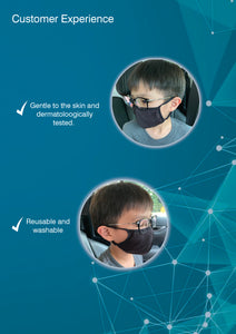 3D Junior Reusable Face Mask (2pcs/pack)