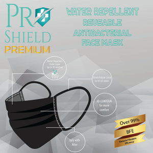 ProShield Premium Water Repellent Reusable Antibacterial Face Mask (1pc/pack)