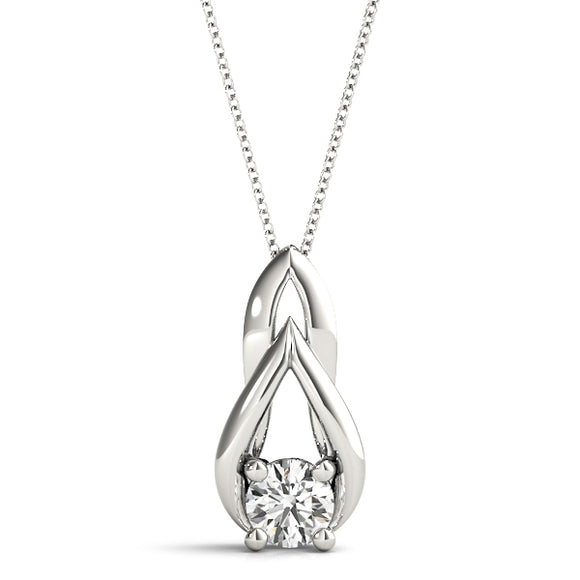 Diamond Love Knot Pendant