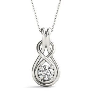 Diamond Eternity Knot Pendant