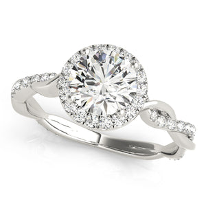 Only $220/mo GIA certified 1.0 ct G-SI2 halo diamond ring