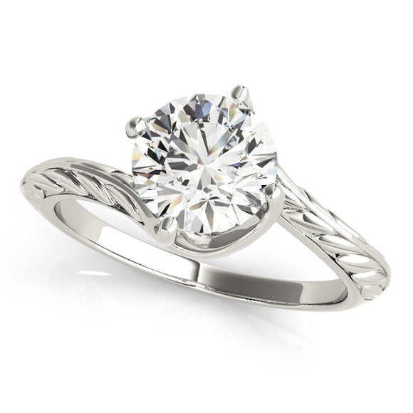 Solitaire Engagement Ring Twisted Basket