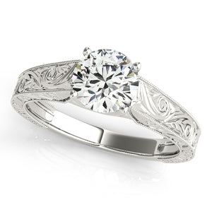 Engraving Solitaire Engagement Ring