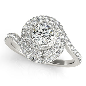Double Halo Twisted Basket Engagement Ring