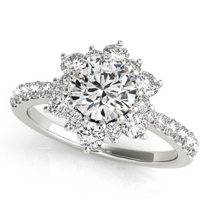 Floral Design Engagement Ring