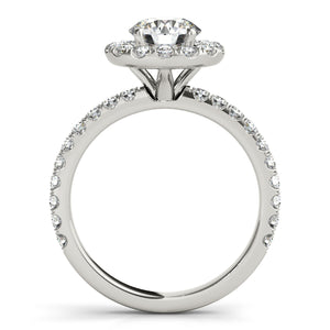 French Halo Engagement Ring