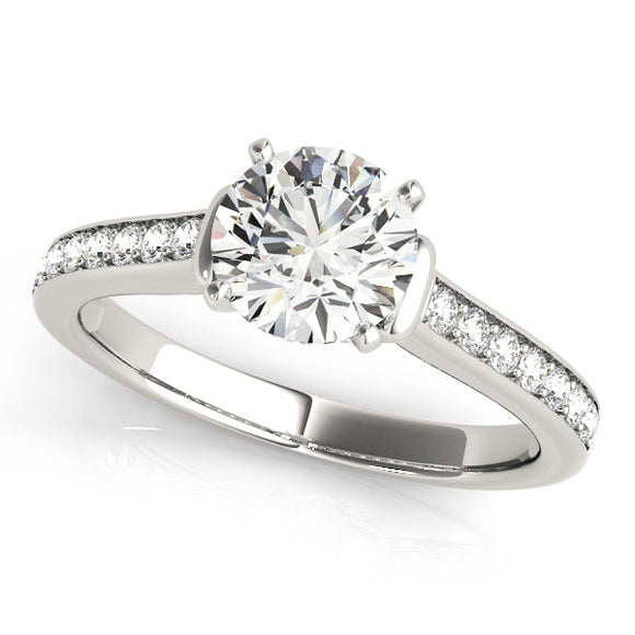 Pave' Engagement Ring