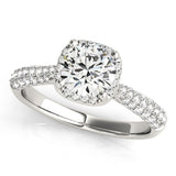 Skinny Halo Engagement Ring
