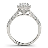 Pear Halo Pave Engagement Ring