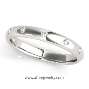 Bezel Set Wedding Band