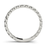 Prong Set Linked Wedding Band