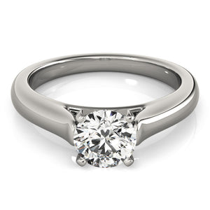 Solitaire Engagement Ring Plain Band