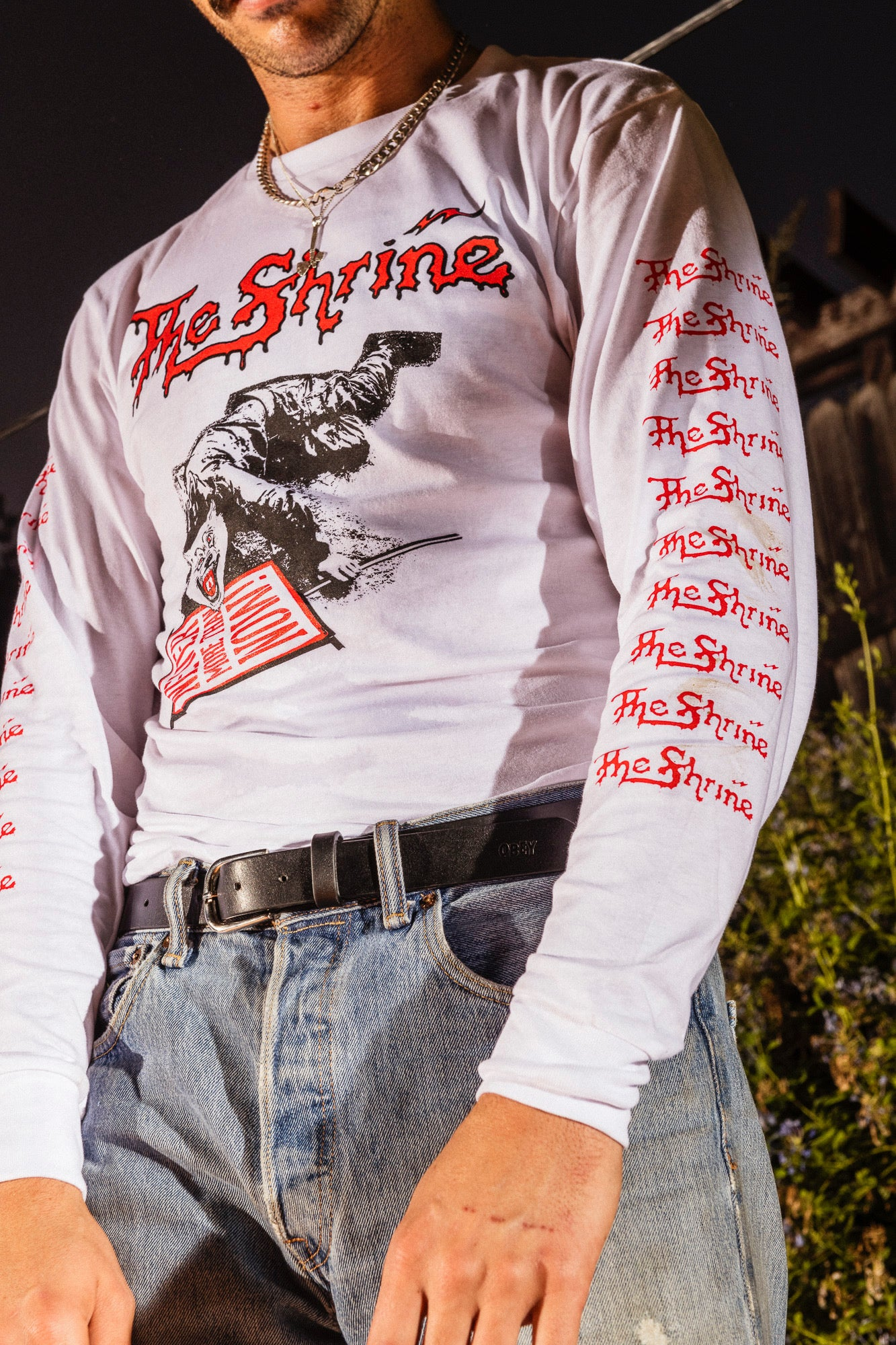 "The Shrine - ""Never More Than Now"" Wolf Long Sleeve - White"