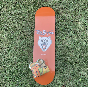 "The Shrine ""Acid Wolf"" Skate Deck and OJ's Wheels Combo (Includes Rare Breed Cassette)"