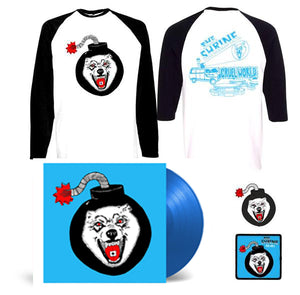 "Cruel World Blue vinyl LP Bundle - 12"" Lp - Baseball Shirt - Patch - Pin - Shirt"