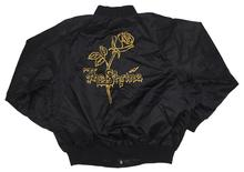 Load image into Gallery viewer, The Shrine x Obey Black Satin Bomber