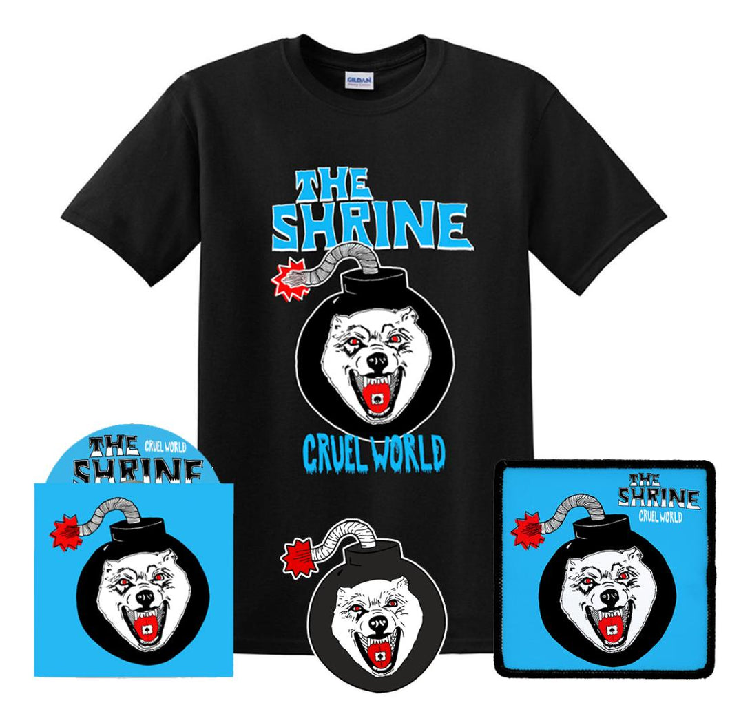 Cruel World CD Bundle - CD - T-Shirt - Patch - Pin