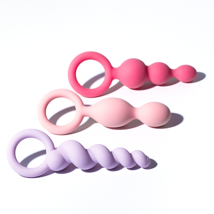 Kit 3 Plugs Silicone Satisfyer - Colors