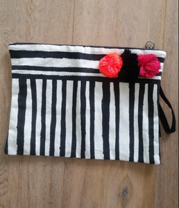 Painterly Striped Clutch