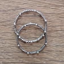 Twist Dot Ring - Silver