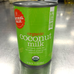 The organic coconut milk used by Back to Basics Kitchen in Broomfield, CO.