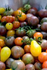 Organic, Local Tomatoes are used in Broomfield's Back to Basics Kitchen's real food dishes.