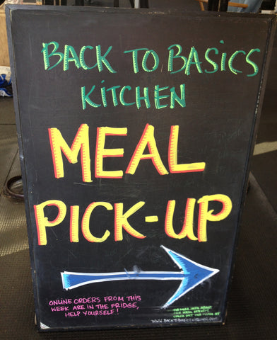 meal pick up sign