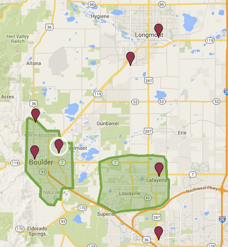 Expanded Delivery in BoCo, Boulder, Lafayette, Louisville