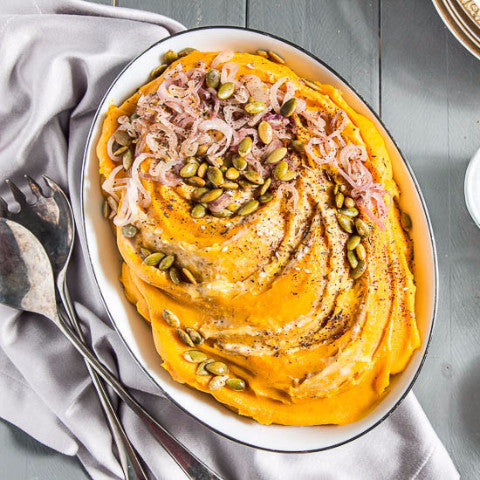 Thanksgiving Butternut Mash with Optional Pepitas and Spices (Dairy Free)
