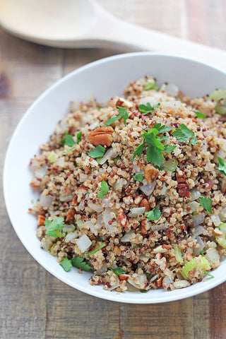 Thanksgiving Dressed Up Quinoa Stuffing (Gluten Free)