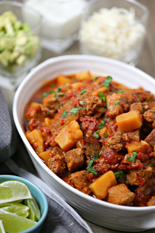 Organic Smoky Pork Tinga (Mexican Stew) available for pickup site or home delivery in Louisville, CO.