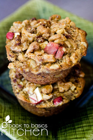 Thanksgiving Apple Spice Muffins with Maple Streusel (Gluten Free, Paleo)