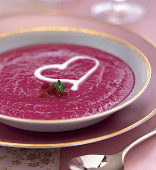 Velvety Roasted Beet Soup with Optional Cream