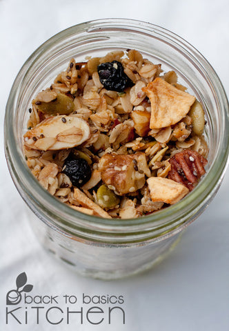 Nourishing Blueberry Lemon Granola (Paleo Option)