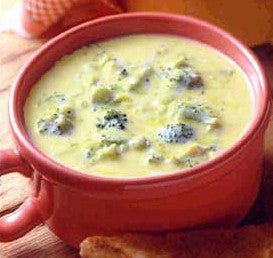 Classic Broccoli Soup with Optional Cheddar