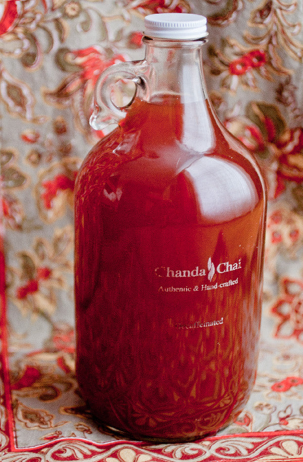 Half Gallon, Organic, Locally Brewed Chanda Chai available for delivery in BoCo.