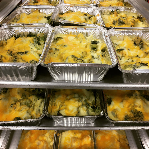 Cheesy Broccoli Cheddar Bake with Optional SPICY Beef Sausage