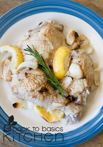 Succulent Roast Organic Chicken with Rosemary and Lemon