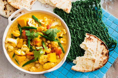 Hearty Vegetable Yellow Curry with Optional Chickpeas