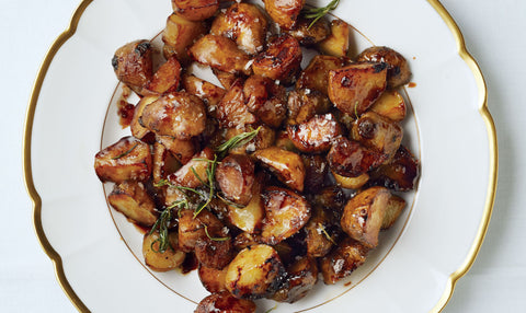 Balsamic Roasted Gold Potatoes with Herbs