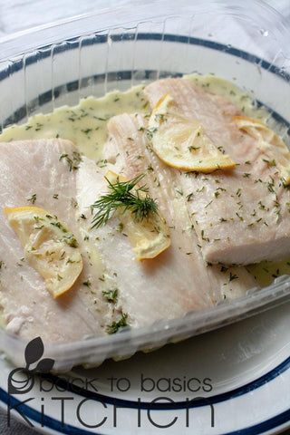 Wild Pollock Filets with Fresh Dill and Lemon