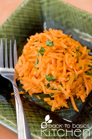Fresh Carrot Salad with Lemon Dijon Vinaigrette